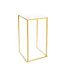 Quadrum tafel Goud Met Wit Marmer Blad (60 * 60 cm)